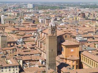 Aerial iew of  Bologna,  Italy.