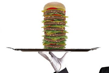 First Class Hamburger Meal