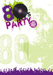 80er Party Flyer Plakat