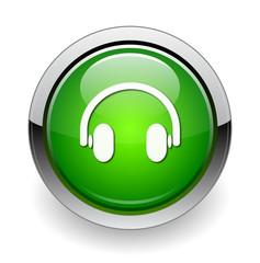 headphone web green button