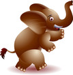 Cheerful elephant running