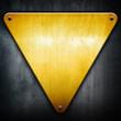 Leinwandbild Motiv golden triangle background