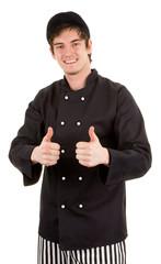 Really happy chef