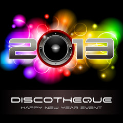 2013 light explosion - New Year*s disco and event flyer template