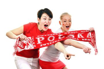 Two Polish soccer fans.