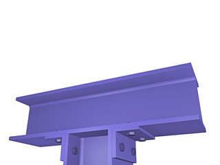 steel construction detailed view - 3D