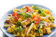 couscous salad with tuna and vegetables