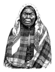 Trad. old american Indian Woman