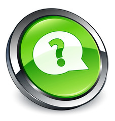 Question icon 3D green button