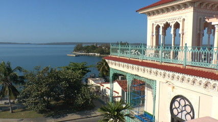View on Cienfuegos bay from Palacio de Valle, Cuba