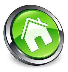 Home icon 3D green button
