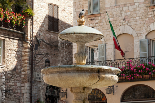 Assisi fountain in the Main Square