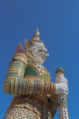 Guardian statue at the Temple of Dawn,Thailand