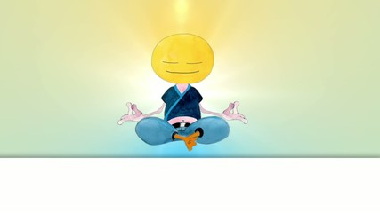 Happy Meditating in Lotus Position. Seamlessly loop-able.