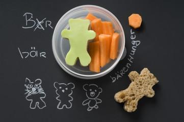 Kreative Schuljause für den Bärenhunger