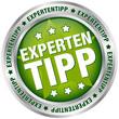 """Button """"Expertentipp"""" grün/silber"""