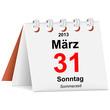 Kalender - 31.03.2013 - Sommerzeit