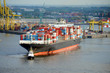 Containerschiff, Hamburger Hafen, Export, Import, Elbe, Hamburg