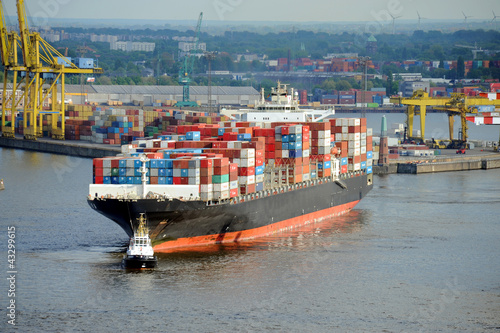 Containerschiff, Hamburger Hafen, Export, Import, Elbe, Hamburg - 43299615