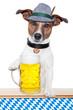 canvas print picture - dog oktoberfest