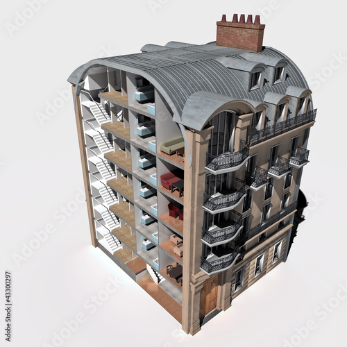 Classic building section