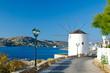 Parikia town on Paros island in Greece