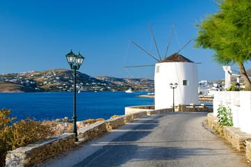 Parikia town in Paros island, Greece