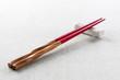 Wooden chopsticks red