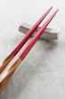 Wooden chopsticks red