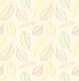 autumn leaves, seamless pattern