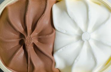 gelato panna e cacao