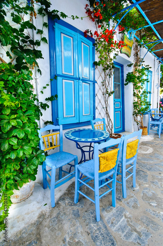 Fototapety, obrazy : Greek traditional street taverna