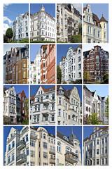 Plakat Gründerzeitgebäude in Kiel, Deutschland