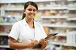 Pharmacy chemist woman in drugstore - 43302067