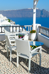 relaxing in Santorini, Cyclades, Greece