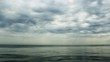 Clouds over the lake. High definition timelapse