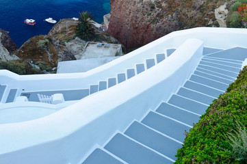 Stairs on a greek island of Santorini