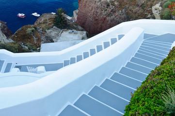 Stairs on a greek island of Santorini