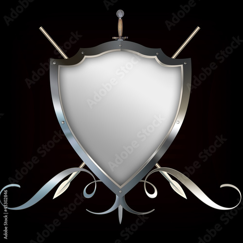 Shield with spears and sword.