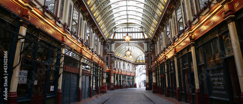 canvas print picture Leadenhall Market in the City of London