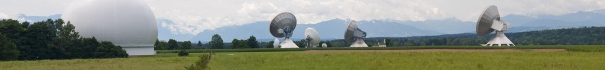 Erdfunkstelle Raisting, Bayern, Deutschland