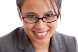 Asian business woman with glasses portrait