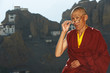 Indian tibetan monk sadhu