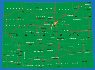 State of Colorado map
