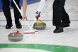 canvas print picture - Curling Wettkampf in der Eishalle.