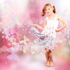 Kleine Prinzessin im Traumland