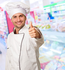 Male Chef Keeping Thumb Up