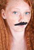 Funky mustache portrait