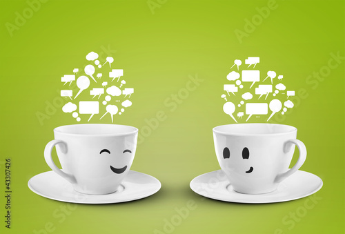 two cups smileys