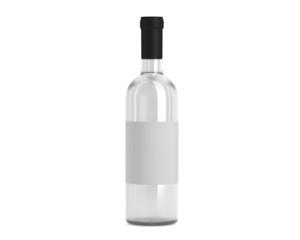 Weinflasche weiß mit Etikett
